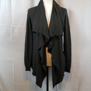 Theory Open Charcoal grey Cardigan size small
